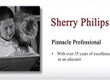 Sherry E. Philips is recognized by Continental Who's Who as a Pinnacle Profile